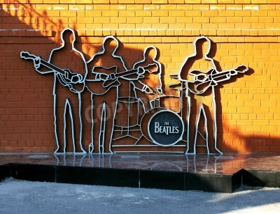 Poster Monument to The Beatles in Ekaterinburg, Russia