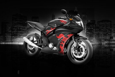 Poster Motorcycle Motorbike Bike Riding Rider Contemporary Concept