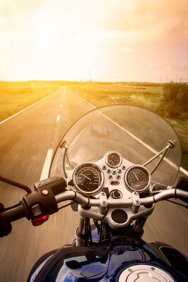 Poster Motorcycle rider view