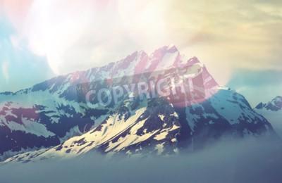 Poster Mountain peak