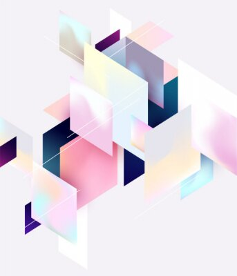 Poster Multicolored geometric background