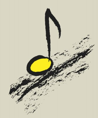 Poster music concept musical note, design logo