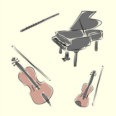 Poster musical instruments