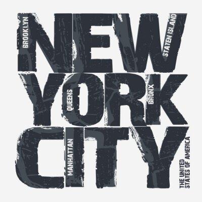 Poster New York City Typography design