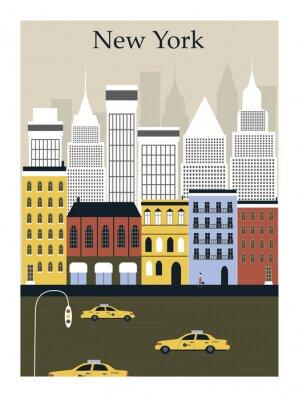 Poster New York city. Vector