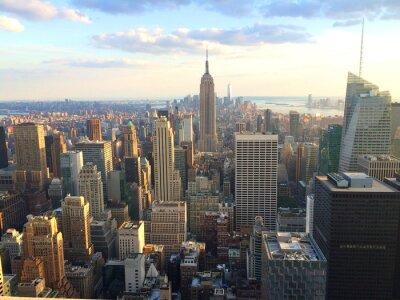 Poster New York vista al tramonto da top of the rock