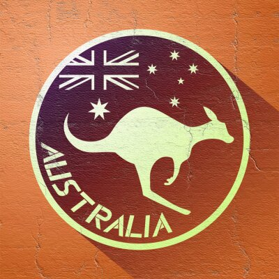 Poster nice australia icon