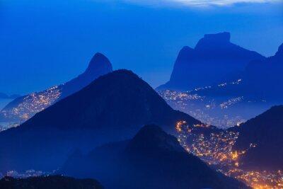 Poster Night view of  Rio de Janeiro