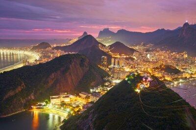 Poster Night view of Rio de Janeiro, Brazil
