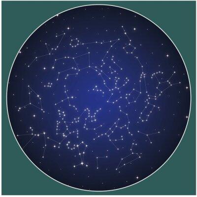 Poster Northern hemisphere constellations