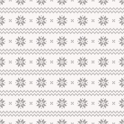 Poster Norwegian seamless pattern. Vector set.