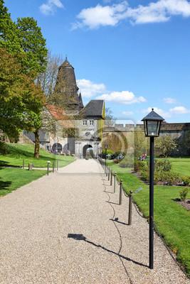 Poster Oberes Burgtor und Park der Burg Bad Bentheim