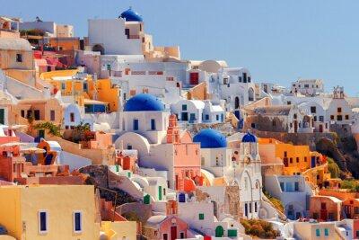 Poster Oia cityscape, Santorini
