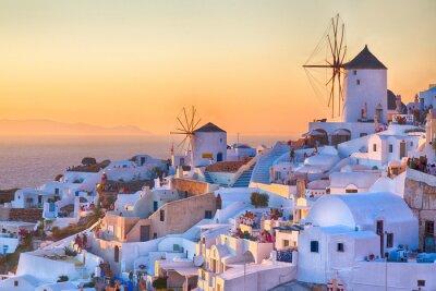 Poster Oia Sunset, Santorini island, Greece