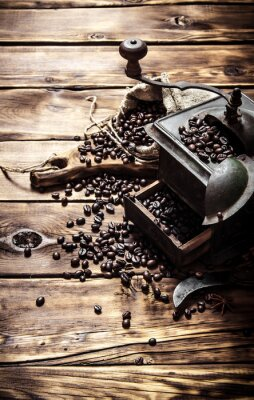 Poster Old coffee grinder