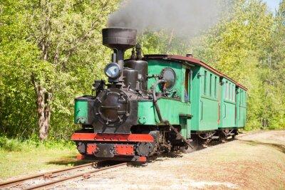 Poster Old steam engine train