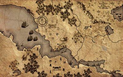 Poster Old vintage fantasy map