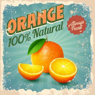 Poster orange vintage