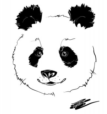 Poster panda head