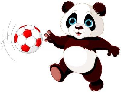Poster Panda hits the ball