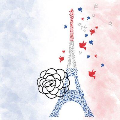 Poster Paris Eiffel Turm