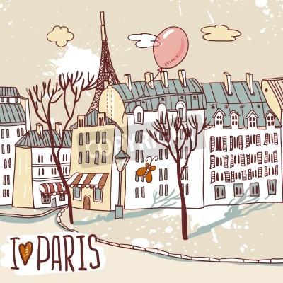 Poster paris urban sketch