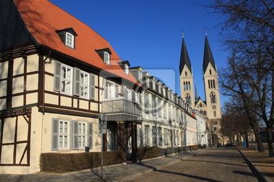 Poster Partie auf dem Domplatz in Halberstadt