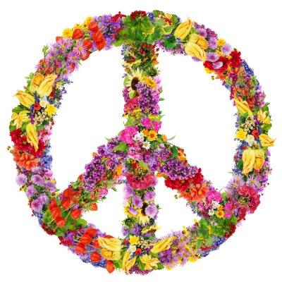 Poster Peace flower symbol
