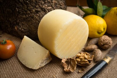 Poster Pecorino fresco, Italian hard cheese
