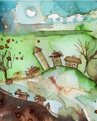 Poster pejzaż akwarelowy