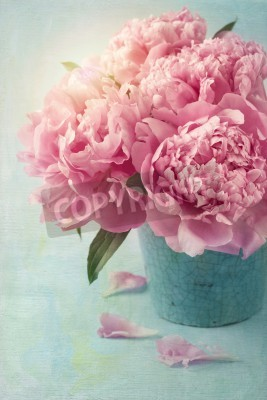 Poster Peony flowers in a vase