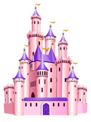 Poster Pink princess castle.