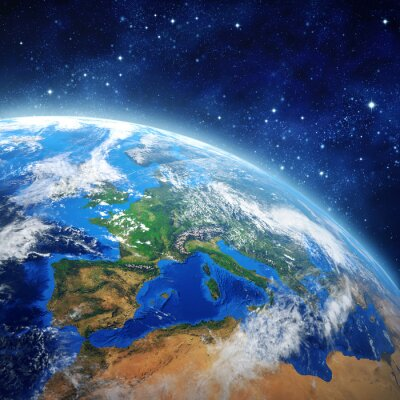 Poster planet earth in outer space