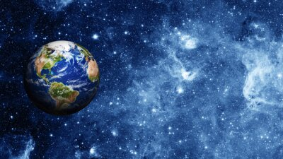 Poster planet earth in space