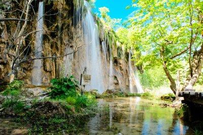 Poster Plitvice Lakes National Park in Croatia