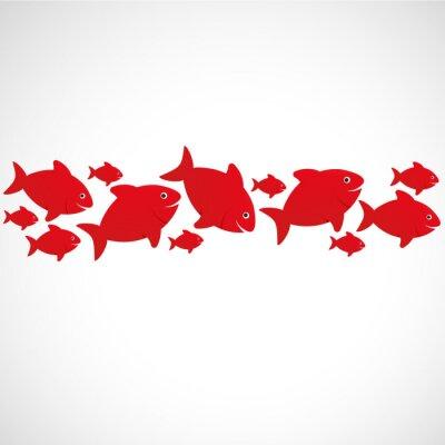 Poster poisson rouge