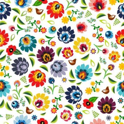 Poster Polish folk pattern vector