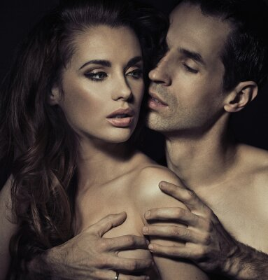 Poster Portrait of a sensual young couple