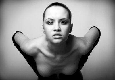 portrait of beauty. sexy fashion girl.