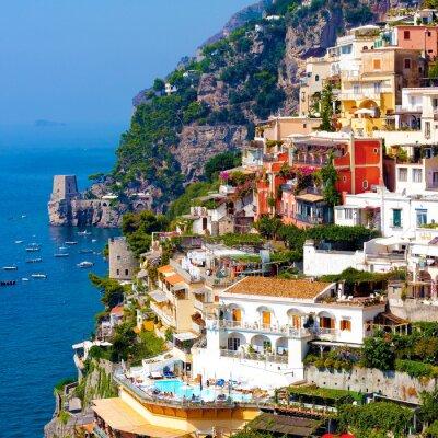 Poster Positano, italy. Amalfi Coast