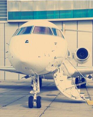 Poster Private Jet in hangar