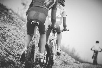 Poster ragazzo ciclista gara di mountainbike