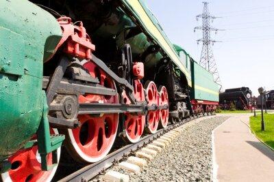 Poster Rail road locomotive