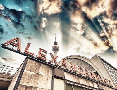Poster Railroad station Alexanderplatz in Berlin - Germany
