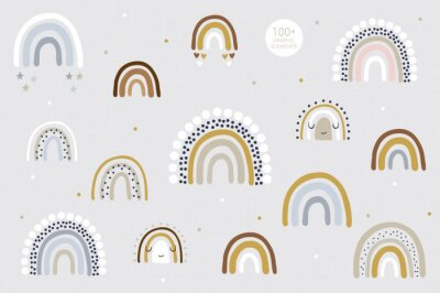 Poster Rainbow pattern kids decor white background logo design background fashion wedding invitation christmas card retro christmas winter poster font wedding abstract christmas logo flyer brochure