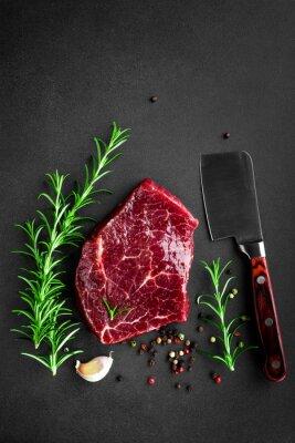 Poster raw beef steak