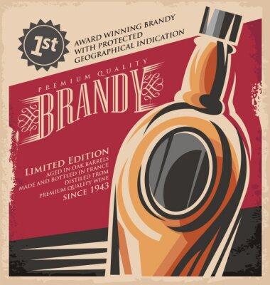 Poster Retro drink creative printed media concept