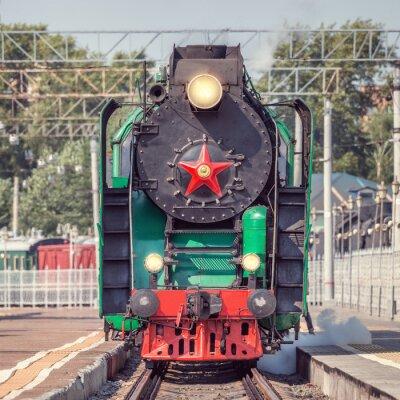 Poster Retro steam train.