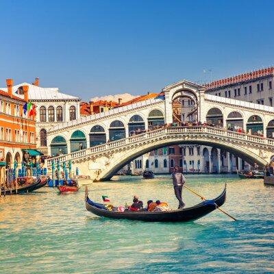 Poster Rialto Bridge in Venice