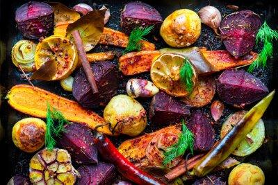 Poster Roasted vegetables